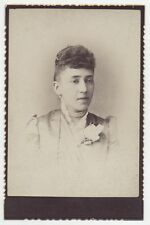 CABINET CARD WOMAN WITH PEARLS AND CORSAGE. BROOKLYN, N.Y.