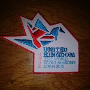 23rd World Scout Jamboree Japan 2015 UK Badge Patch Guides Sew On Camp Blanket..