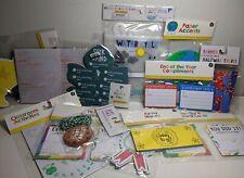 Homeschool Teacher Supplies Activity Rewards Puzzles Crafts Banner Huge Lot