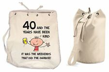 The Years Have Been Kind 40th Birthday Present Duffle Backpack Bag - Funny Gift