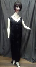 Black Satin Beaded Dress