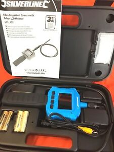 IP67 Waterproof Video Inspection Camera with Colour LCD Monitor Lens mounted LED