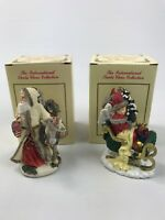 The International Santa Claus Collection Figurines Lot of 2 Switzerland AC4