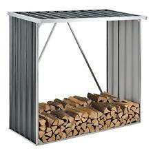 Brennholzlager Kaminholz Unterstand Brennholzregal Stahl 156x80x152cm Anthrazit