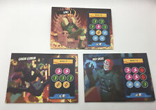 5 MINUTE MARVEL Card Game Replacement Pieces Parts Set 3 DOUBLE-SIDED BOSS MATS