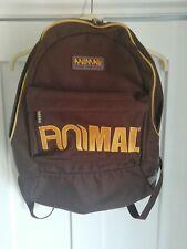 Animal Retro Vintage Style Unisex Rucksack Chocolate Brown With Yellow Graffixs