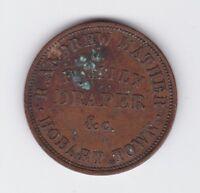 Token Penny Robert Andrew Mather Family Draper Hobart Tasmania Australia 1860