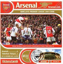 Arsenal 2007-08 Tottenham (Nicklas Bendtner) Football Stamp Victory Card #722