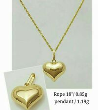 GoldNMore: 18K Gold Necklace and Pendant  18 inches chain YG SD
