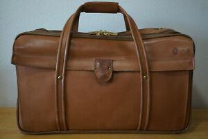 Vintage Hartmann Belting Leather Shoulder Large 3 Zip Duffle Travel Bag