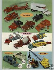 1959 PAPER AD 5 Pg Tonka Structo Nylint Buddy L Tonka GMC Scuco Toy Truck Plane