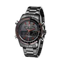 NAVIFORCE Stainless Steel 3ATM Waterproof Fashion Wristwatch Dual Time Y7I9