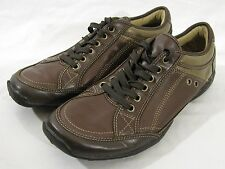 Kenneth Cole Reaction Casual Leather Oxford Shoe Sneaker Lace Jump Brown sz 9.5M