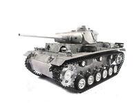 Mato 1/16 100% Metal German Panzer III Tank(Original Metal Color,RTR)