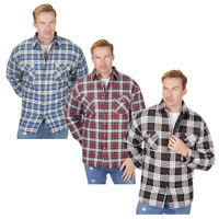 Mens Padded Quilted Work Shirt Outdoor Warm Winter Lumberjack Check Cotton Top