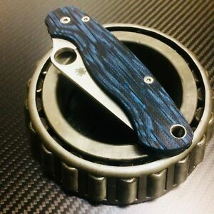 Scales for Spyderco Paramilitary 2 (Black/Blue G10)