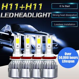 Combo LED Headlight Bulbs Fit for Chevy Malibu Impala High Low Beam White 4pcs
