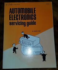 ●AUTOMOBILE ELECTRONICS SERVICING GUIDE●c1973●FIRST PRINTING●FIRST EDITION●N/M●