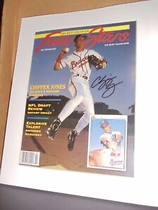 Chipper Jones Autograph COA 1993 Beckett Future Stars, Issue #27, Braves