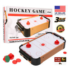 Mini Air Powered Hockey Table Table Top Game Fun Table w/ Scorer Kids Xmas Gift