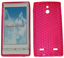 Pattern Soft Gel Case Protector Cover For Sony Xperia P LT22i LT22 Pink New UK