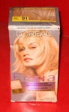 L'Oreal Paris Feria Hair Color ~ # 91 ~ Light Beige Blonde  ~ 1 kit