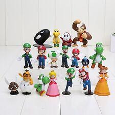 ☆ SUPER MARIO PVC FIGUREN ☆ 18-teililiges Sammler Set ☆ Mario Luigi Yoshi Toad ☆