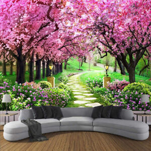 Cherry Blossom Avenue Tapestry Wall Hanging Landscape Wall Tapestry Home Decor