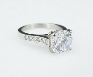 Classic Cathedral Platinum Diamond Semi-Mount Ring 9mm 3ct RBC Size 6 RG2493