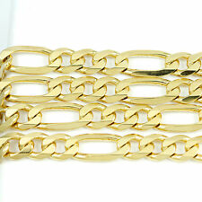 10k Yellow Gold Figaro Chain Necklace (NEW, width: 9mm) #2494