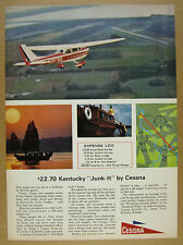 1964 Cessna Skyhawk airplane Trip to Kentucky Lake Lodge photos vintage print Ad