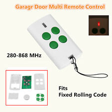 4 Buttons 280-868 MHz Universal Garage Gate Door Multi Remote Fixed Rolling Code