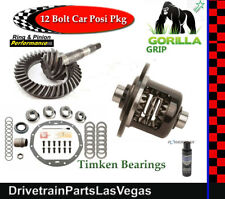 GM 8.875 Chevy 12 Bolt Car 3.73 Ring Pinion Posi Kit Pkg Gorilla Grip TImken NEW