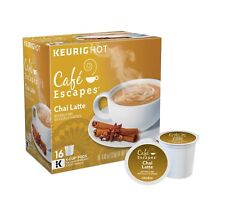 Cafe Escapes Chai Latte 16 to 96 Count Keurig K cup Pods Pick Any Quantity