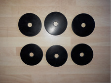 """6 Rondelle di gomma 2 pollici O//D x 1//4/"""" pollici foro x 3MM spessore"""