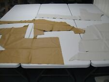 Leather Cowhide scraps pieces upholstery crafts 4 pieces Perforated