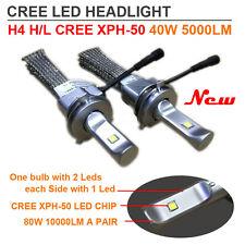 Auto Led H4 Headlight Bulb H7 H11 9005 9006 80W 10000LM CREE Led no fan Newest