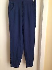 Hollister Navy Soft Pull On Beach Cover Up Pants with Elastic Hem M