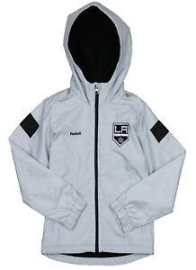 Reebok NHL Hockey Youth Los Angeles Kings Shockwave Zip Up Jacket, Grey