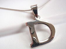 """The Letter """"D"""" Pendant 925 Sterling Silver Corona Sun Jewelry Smooth Shiny d"""