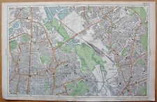 1912 Ca LARGE SCALE BACON STREET MAP- LONDON - HACKNEY STRATFORD CLAPTON LEYTON