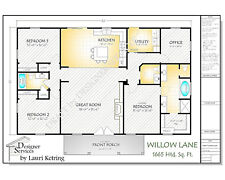 Willow Lane Custom Home House Plan,1650 Sq Ft