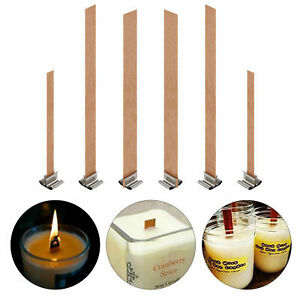 100pcs Wood Wooden Candles Core Wick Candle Making Supplies With Iron Stands