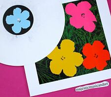 ANDY WARHOL ART COVER FLOWERS LP WHITE MARBLE VINYL LIMITED 150 MINT