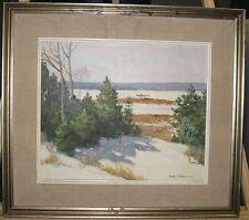 Ben Johnson Winter Landscape Ptg Exhibited at Providence Art Club Rhode Island