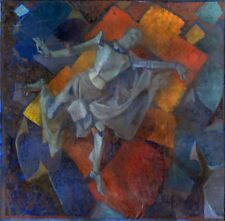 Russian Ukrainian Soviet Oil Painting Spring dancing Impressionism