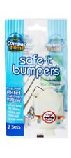 2 SETS!  Compac Safe-T-Bumpers Anti-Slip Safety Toilet Seat Guides/Stabilizers