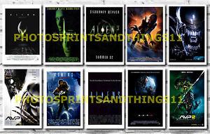ALIEN - VARIOUS FILM POSTERS POSTCARD SET # 1