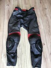 "Hein Gericke Black Leather Motorcycle Trousers Size 58 - UK 40""W 32""L + Sliders"