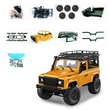 1:12 2.4G 4WD RC Car Crawler Monster Military Truck DIY kit gift Toys LED Light